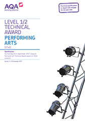 Performing arts specification cover